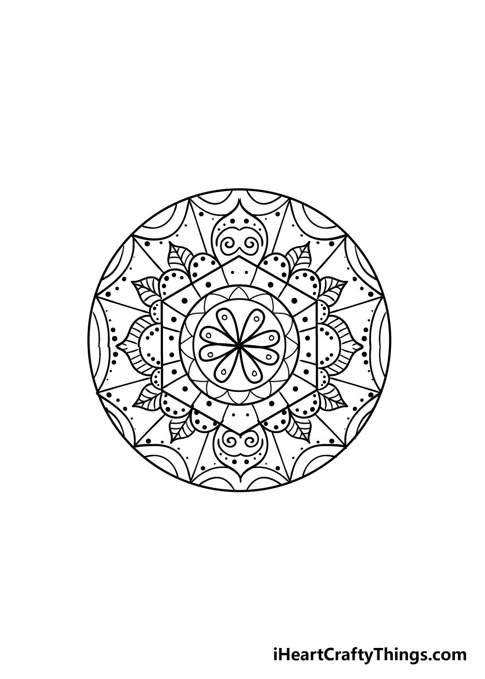 mandala drawing step 8