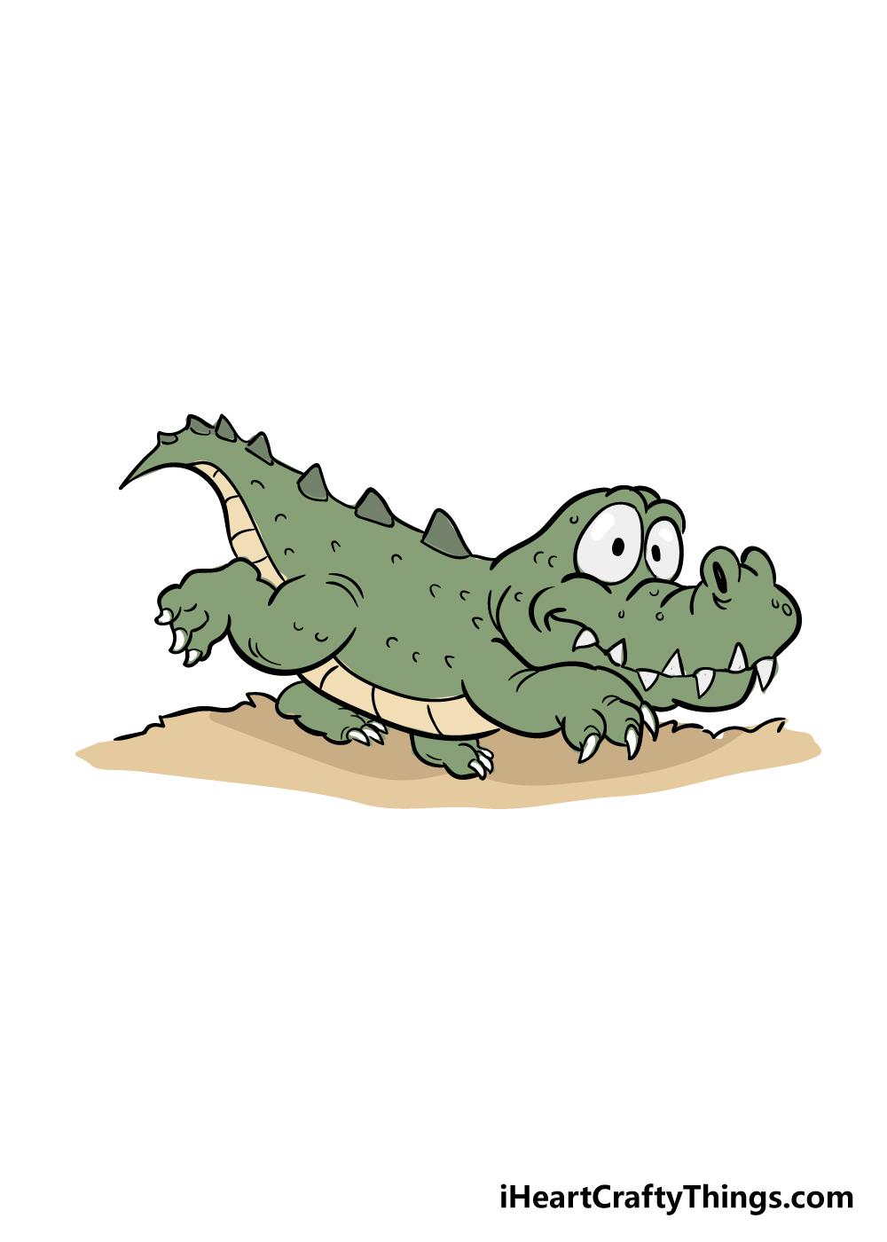 crocodile drawing step 8