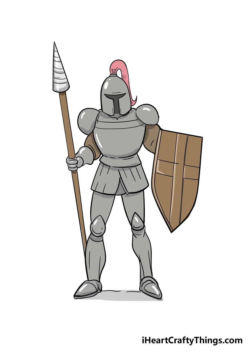knight drawing step 8