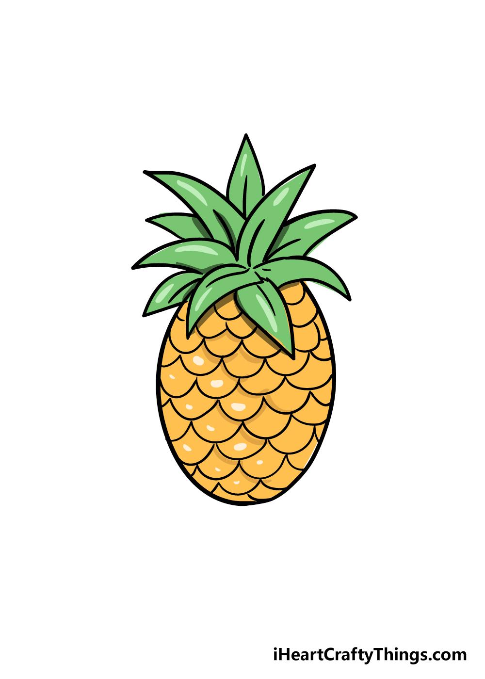 pineapple drawing step 8