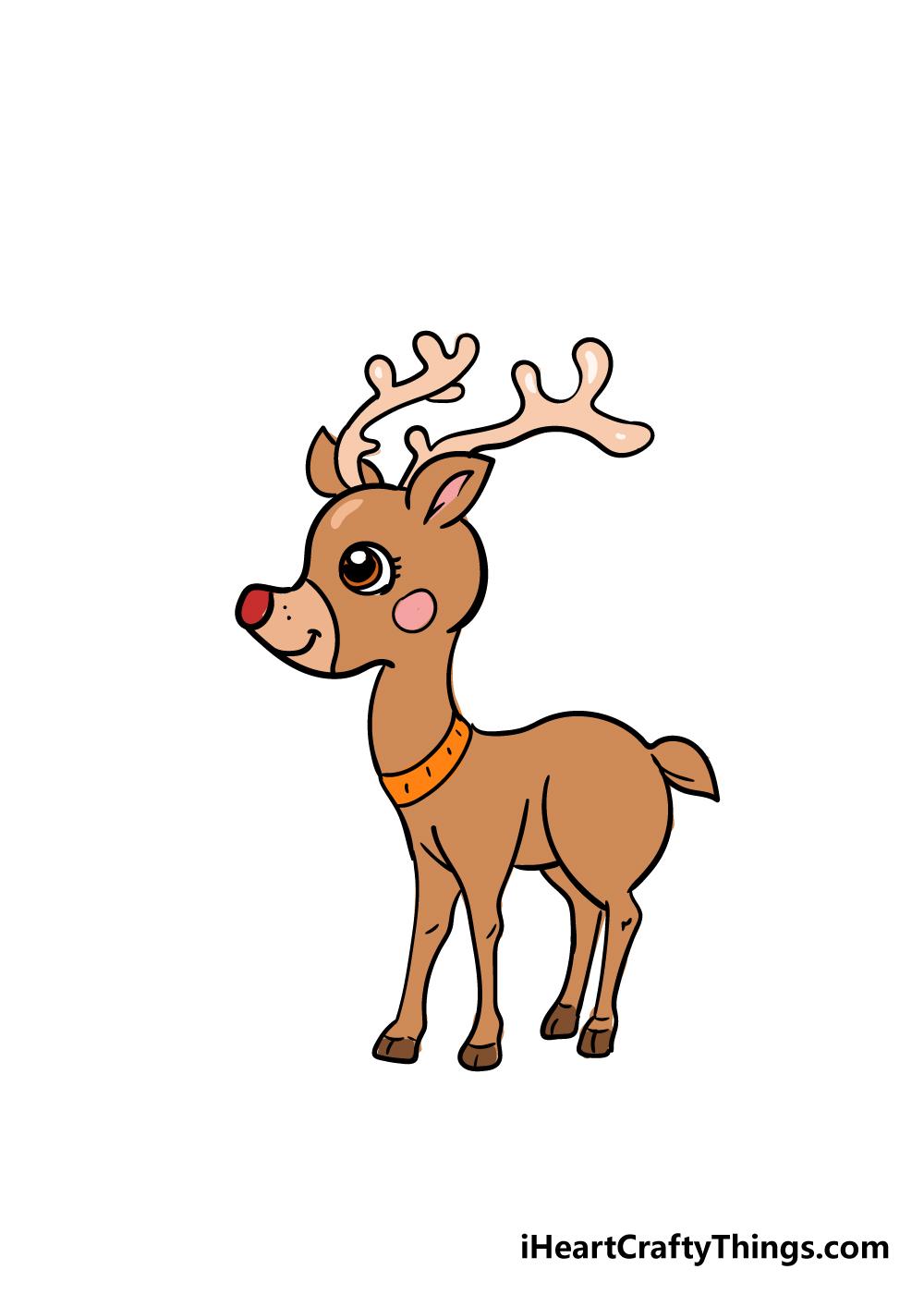 reindeer drawing step 8