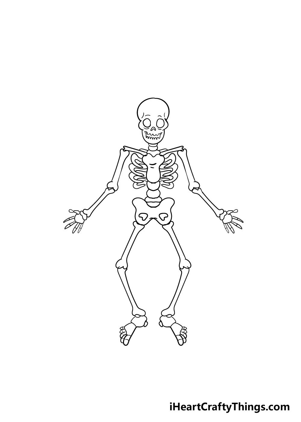 skeleton drawing step 8
