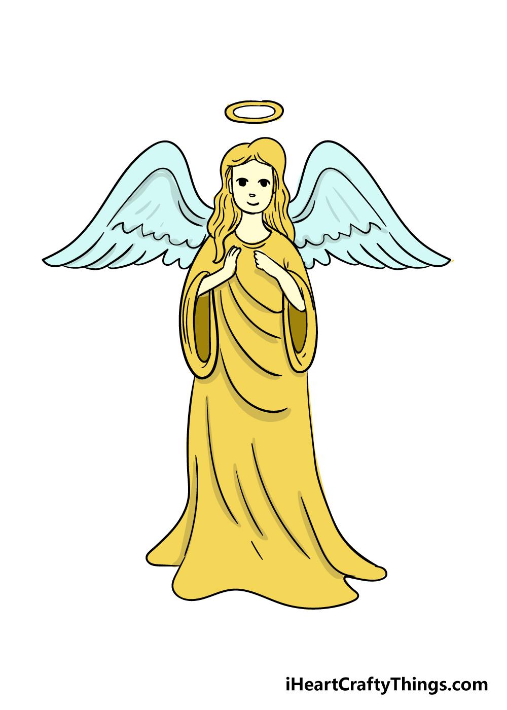angel drawing step 8