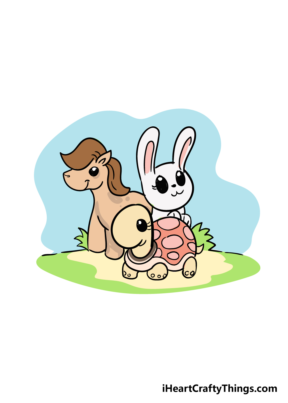 cute animals drawing step 8