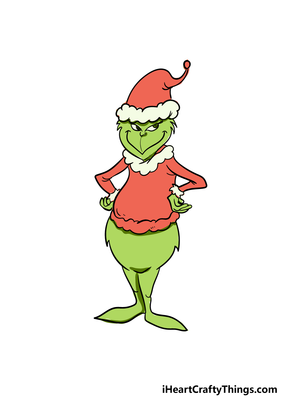 grinch drawing step 8