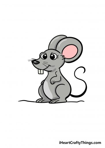 how to draw mouse image