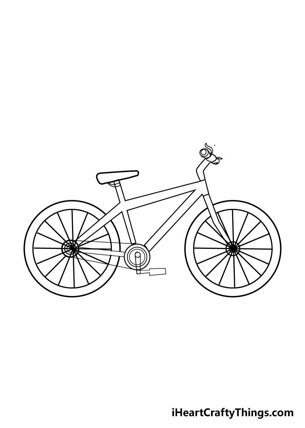 bike drawing step 8