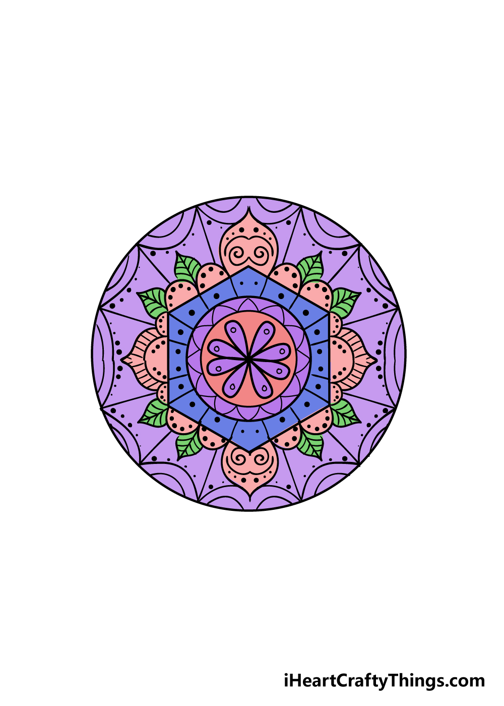 mandala drawing step 9