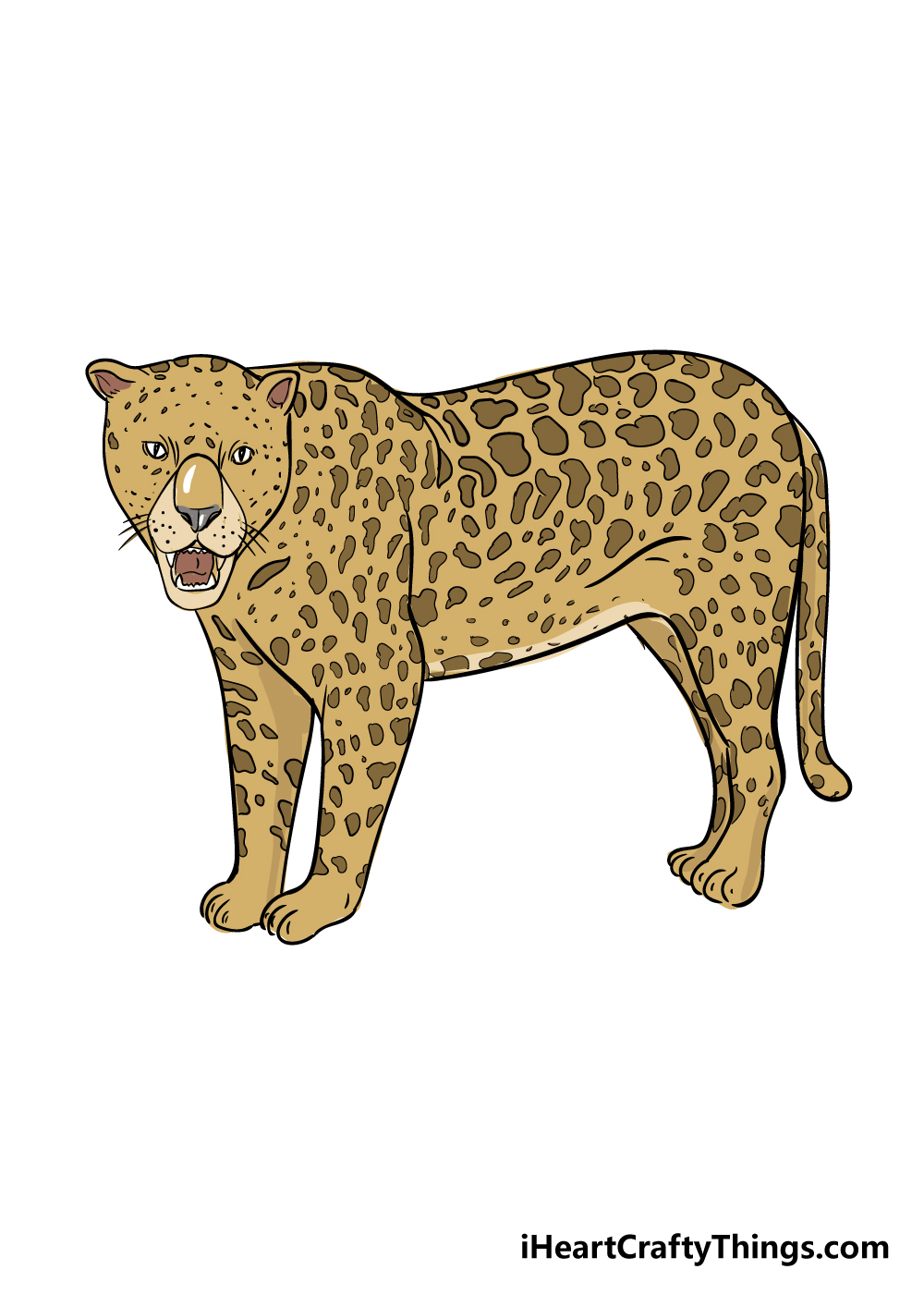 jaguar drawing step 9