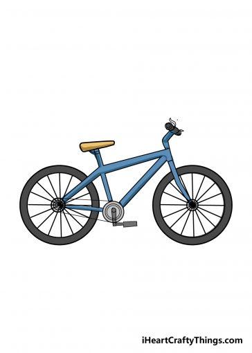 bike drawing step 9