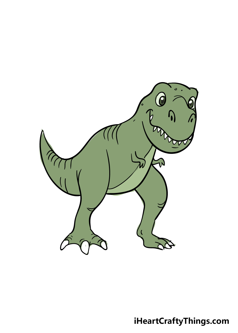 t-rex drawing step 9