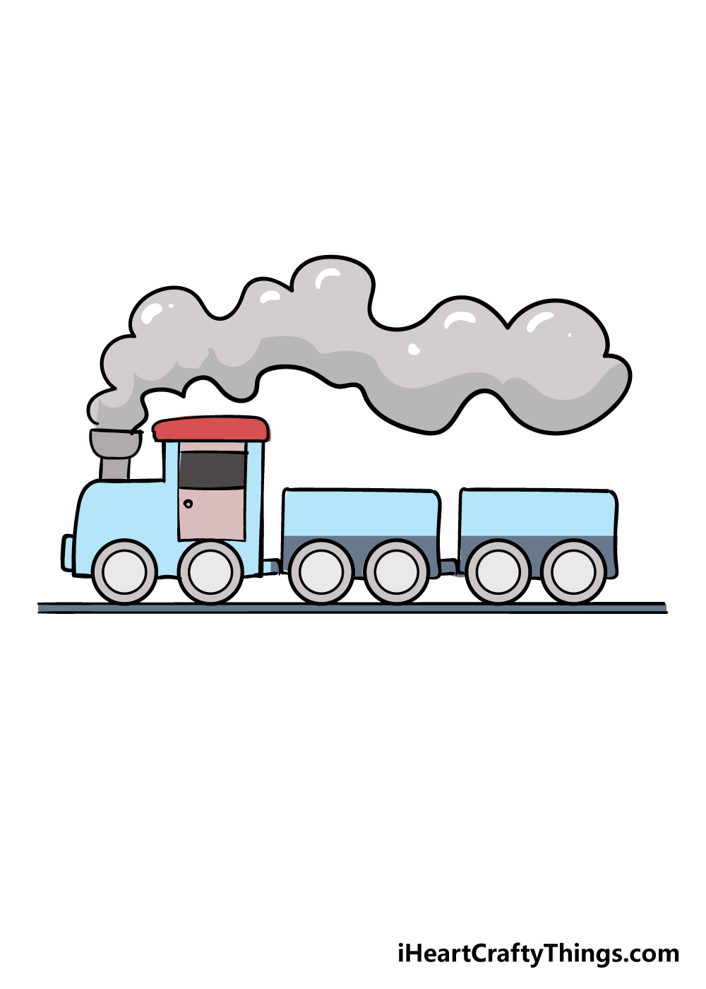 train drawing step 9