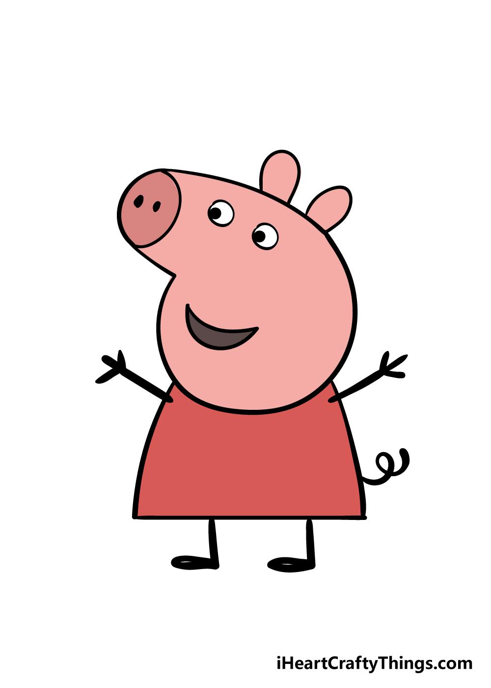 peppa pig drawing step 9