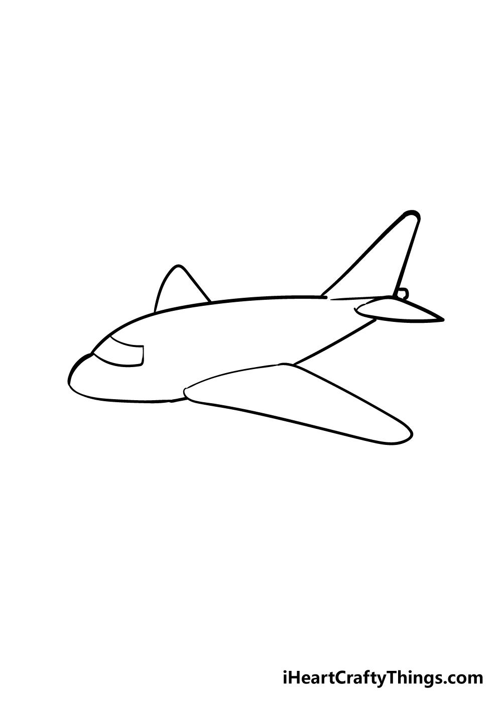 airplane drawing step 4