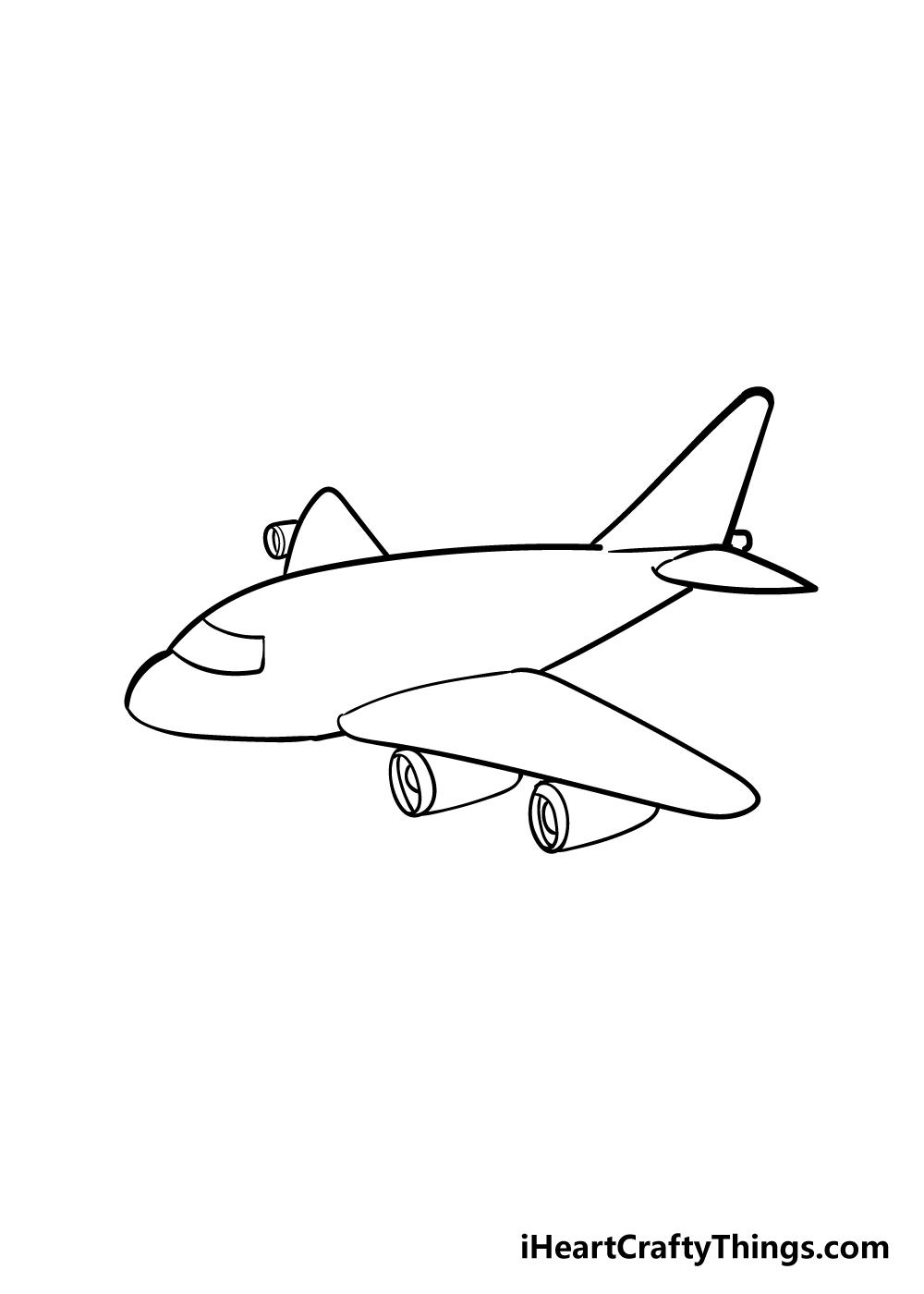 airplane drawing step 5