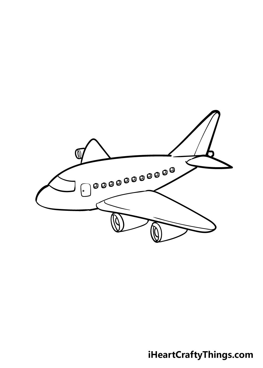 airplane drawing step 6
