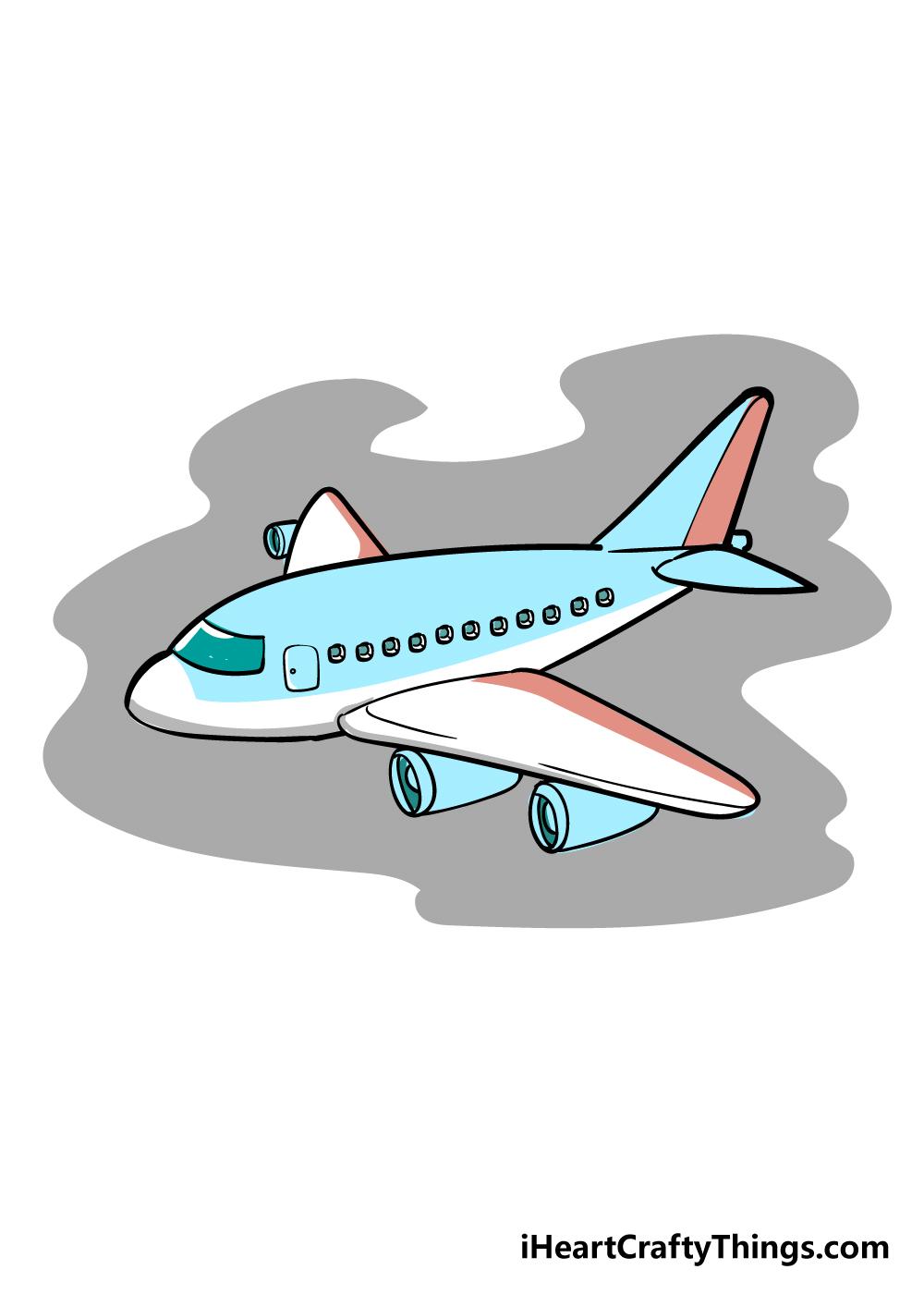airplane drawing step 7