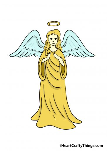 how to draw angel image