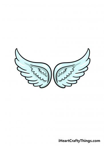 how to draw angel wings image