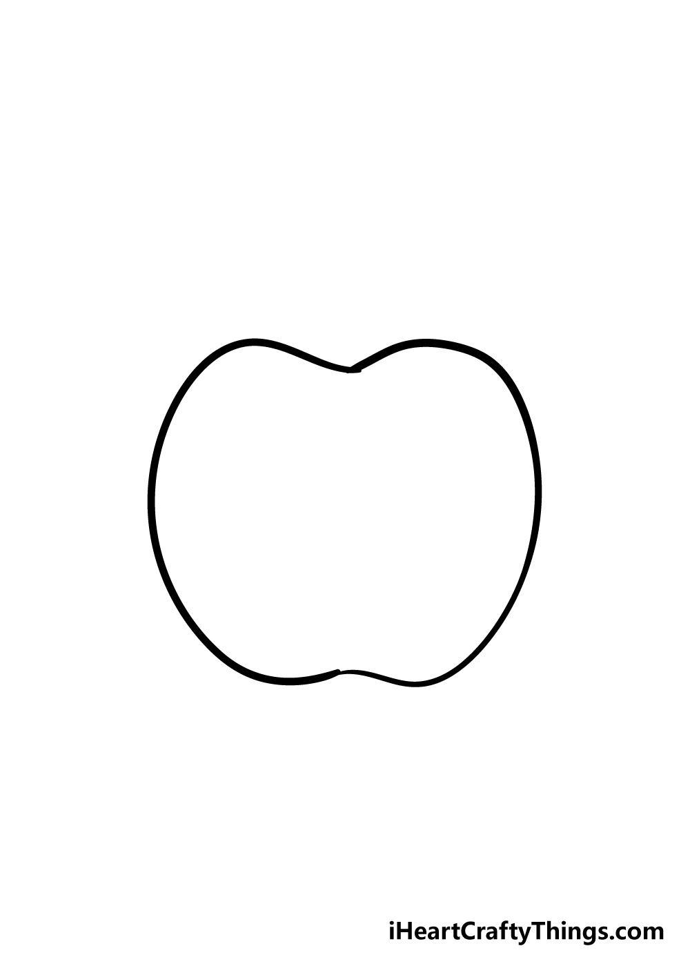 apple drawing step 2