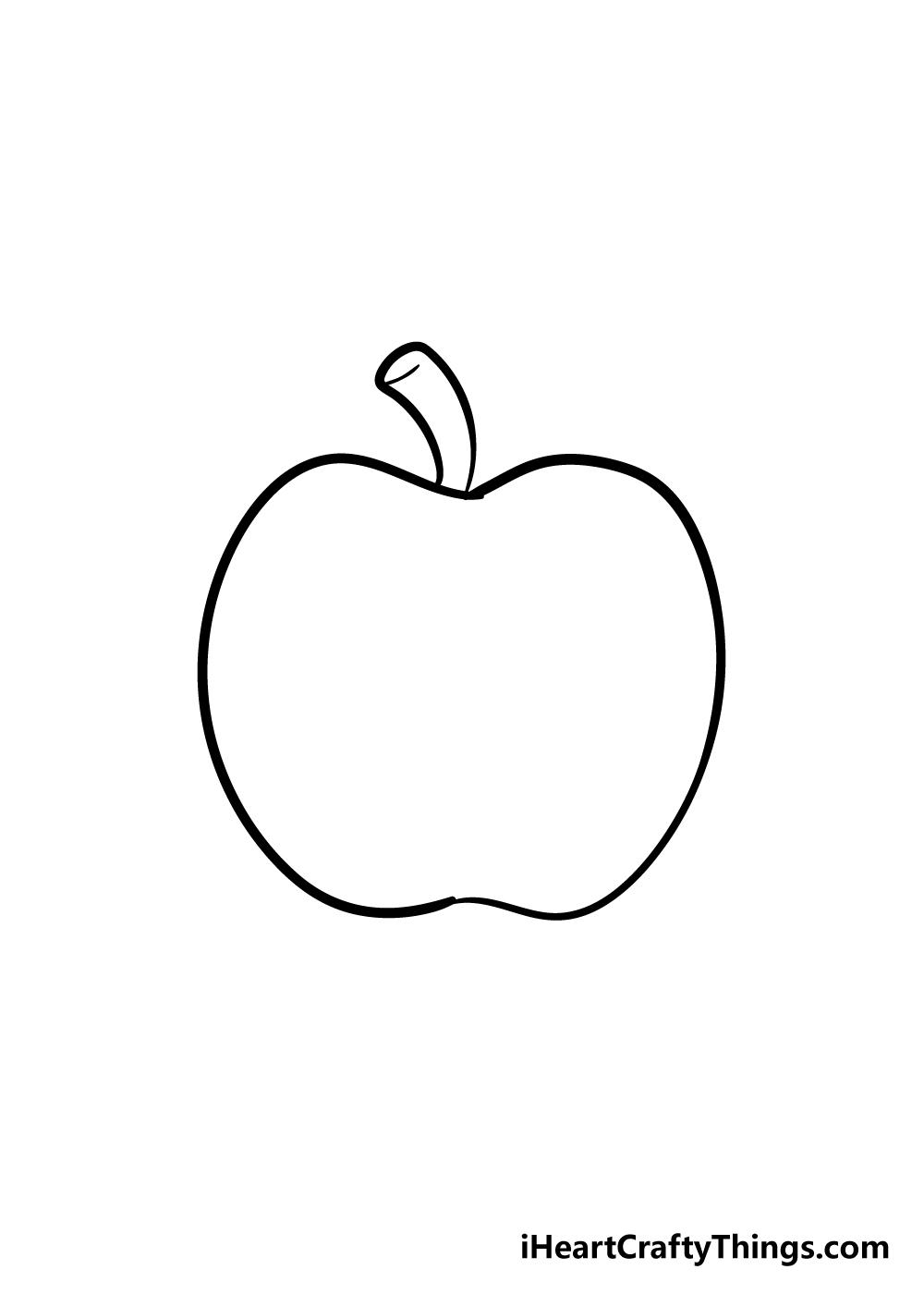 apple drawing step 3