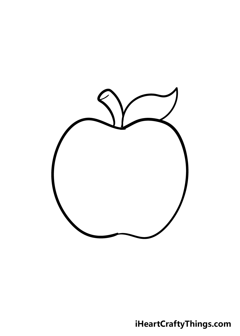 apple drawing step 4