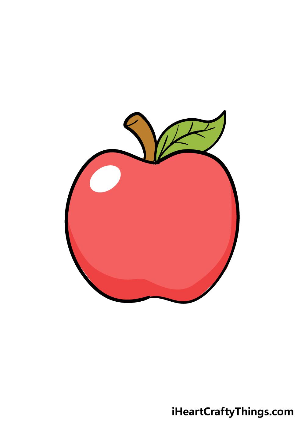 apple drawing step 6