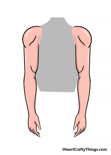 how to draw arms image
