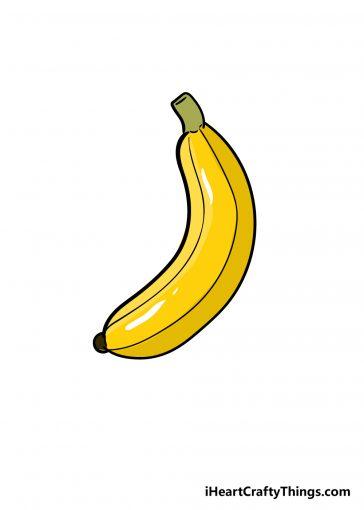 how to draw banana image