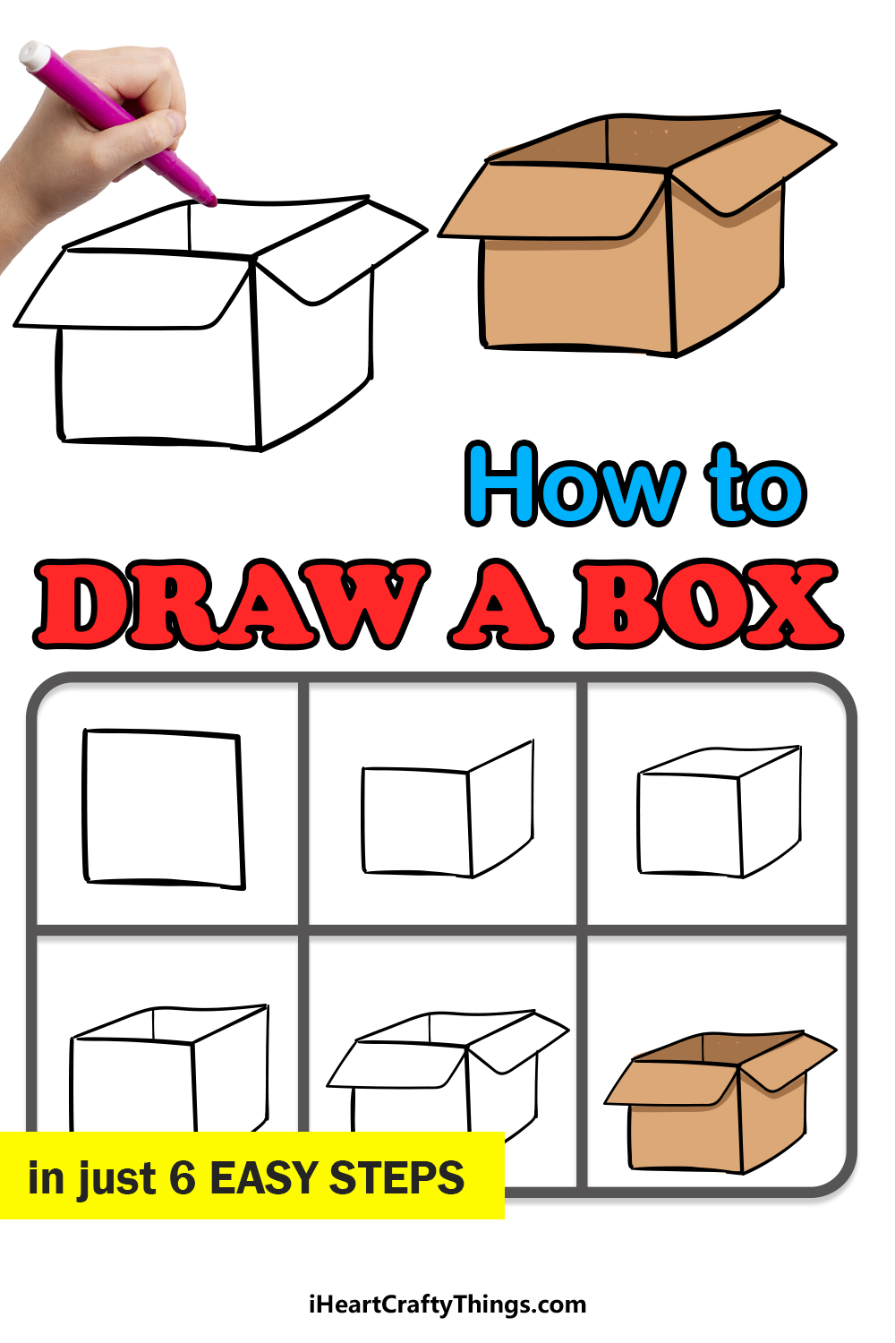 how to draw a box in 6 easy steps