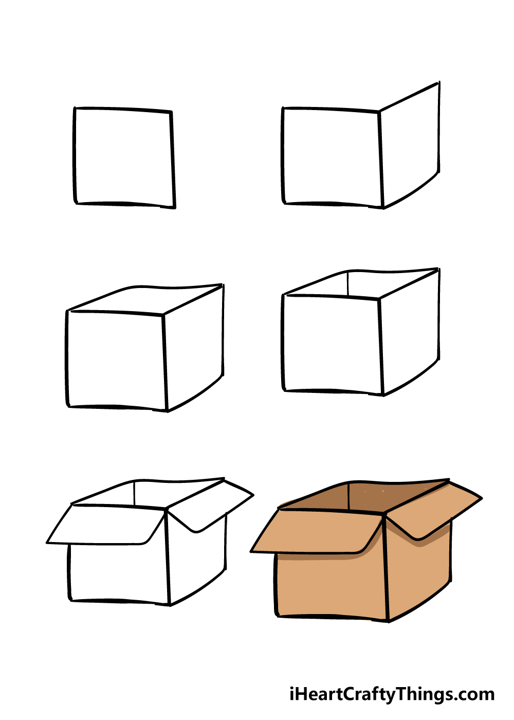 how to draw box in 6 steps
