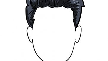 how to draw boy hair image