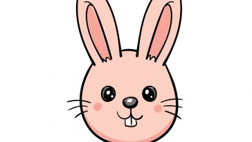 how to draw bunny face image
