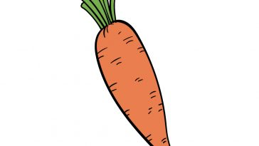 how to draw carrot image
