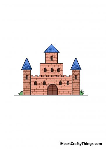 how to draw castle image