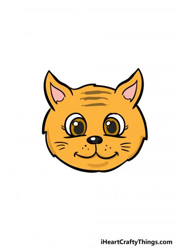 how to draw cat face image