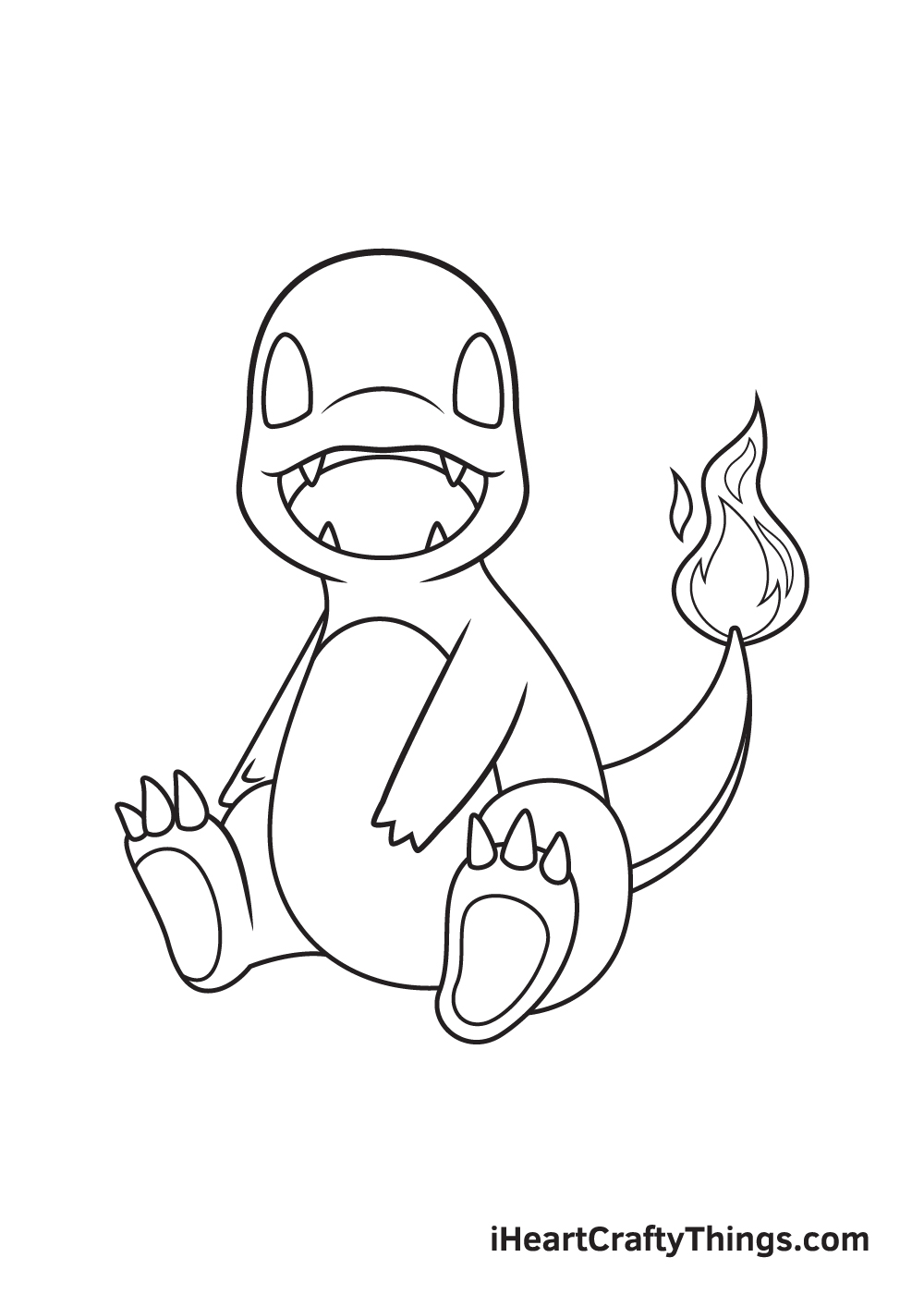charmander drawing step 8