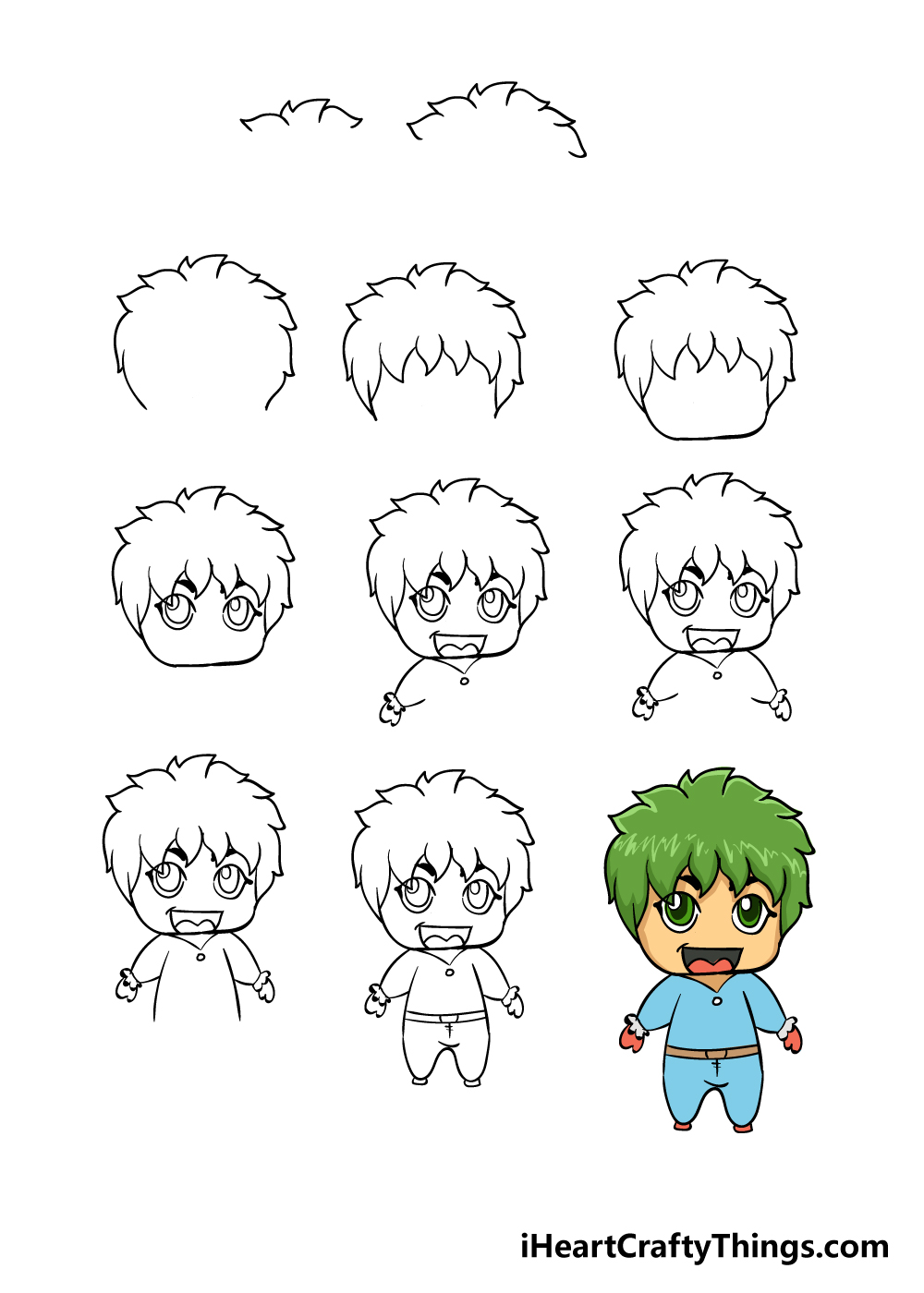 how to draw chibi in 11 steps