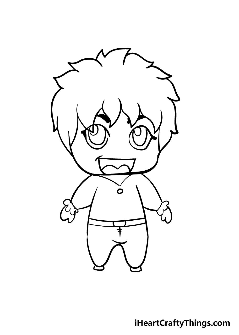 chibi drawing step 10