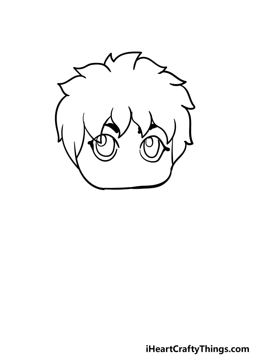 chibi drawing step 6
