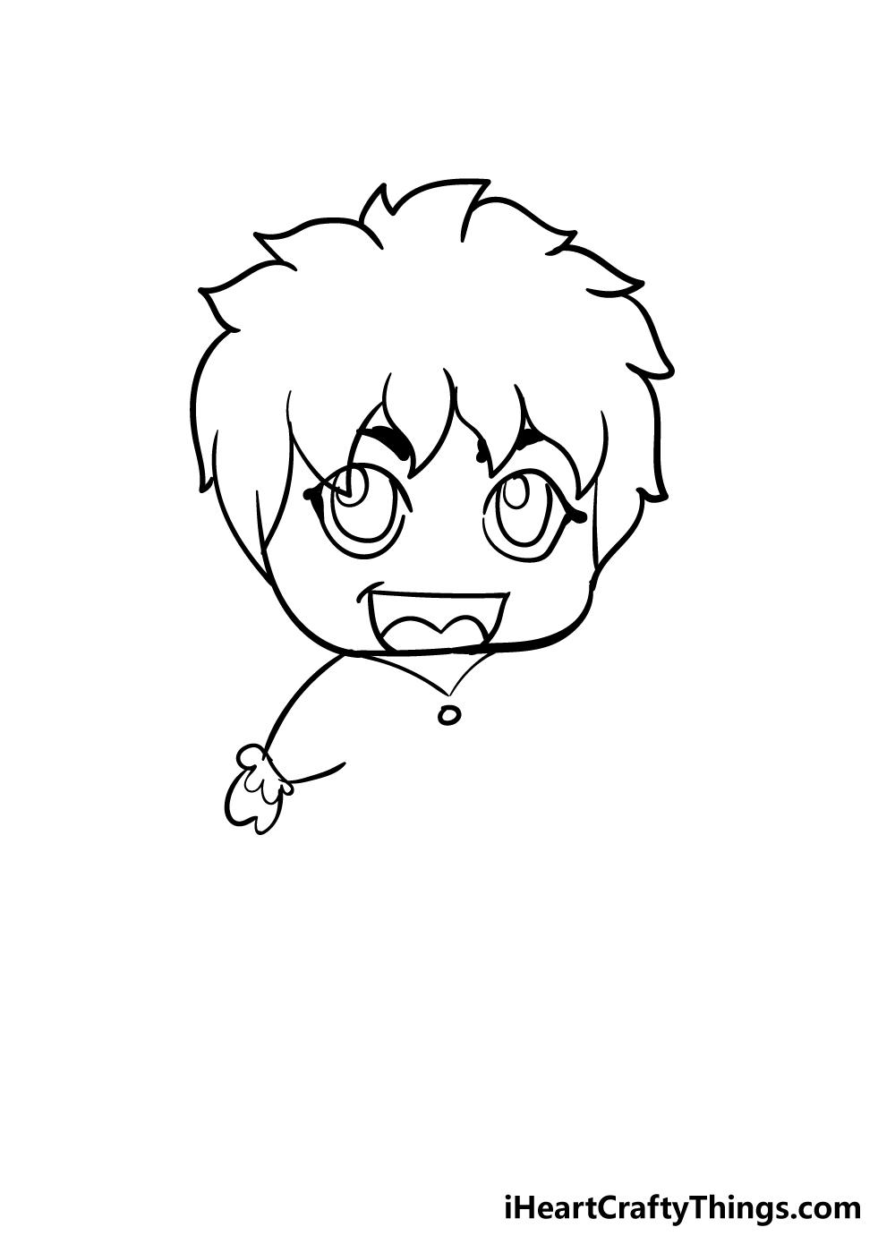 chibi drawing step 7