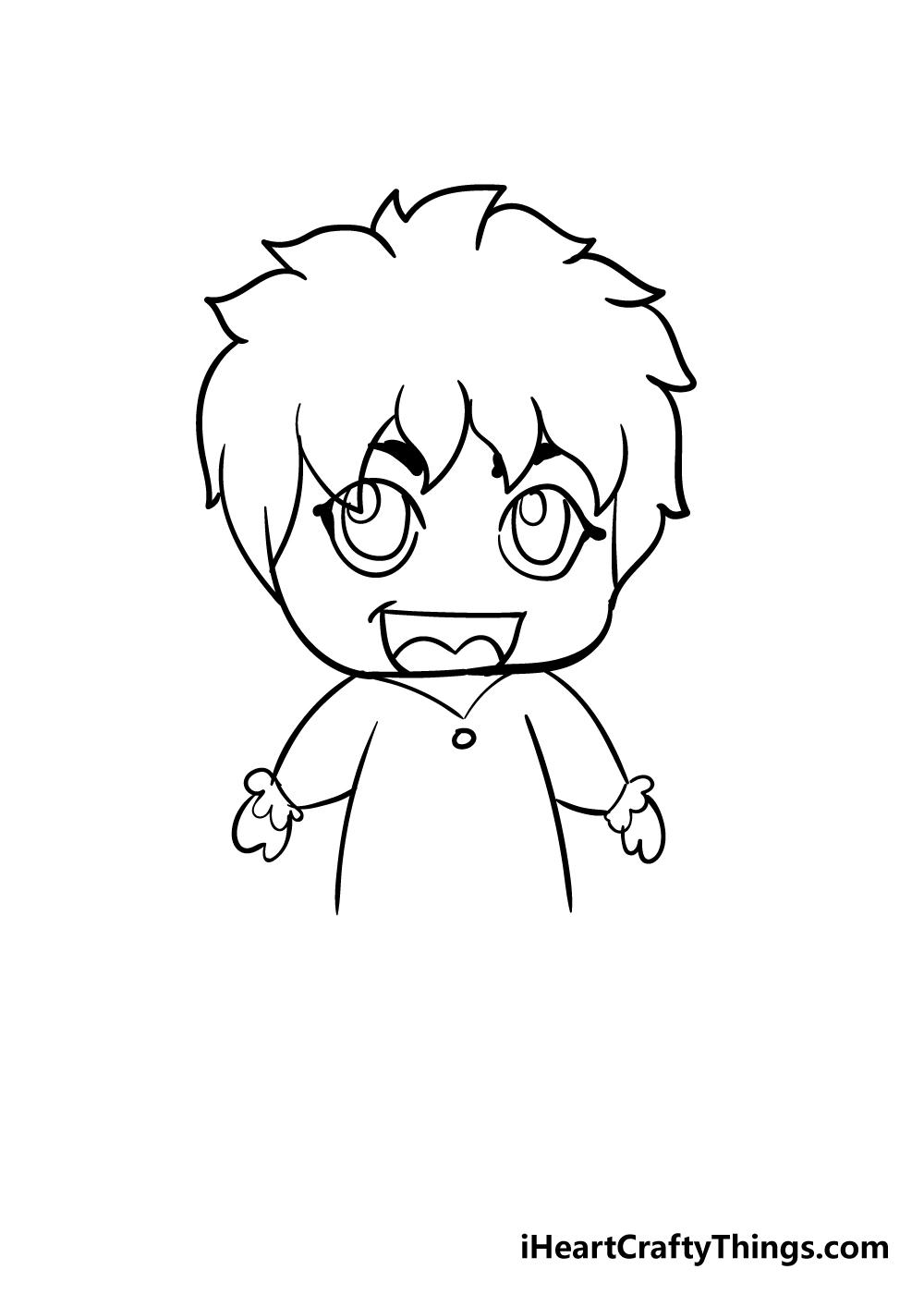 chibi drawing step 9