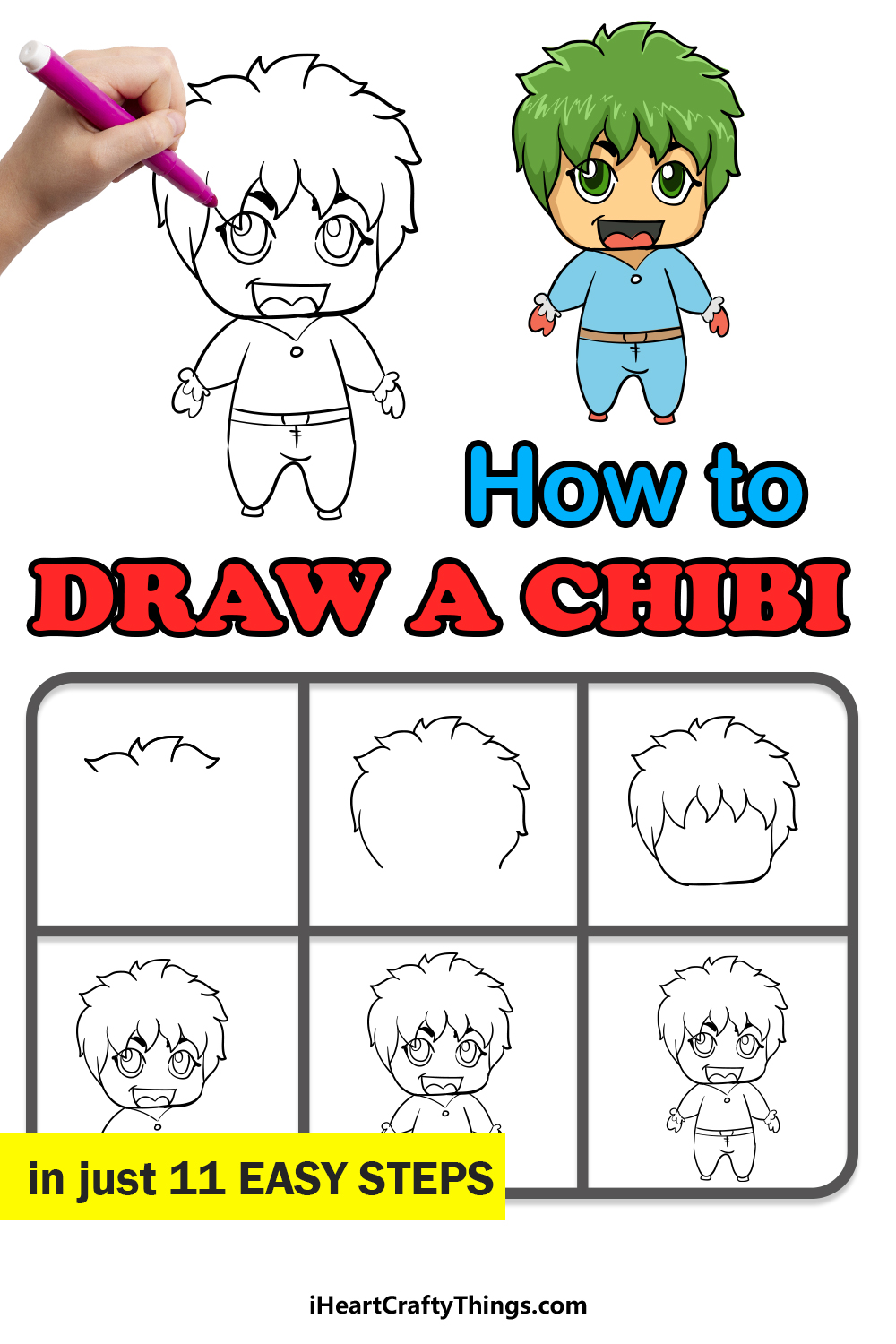 how to draw a chibi in 11 easy steps