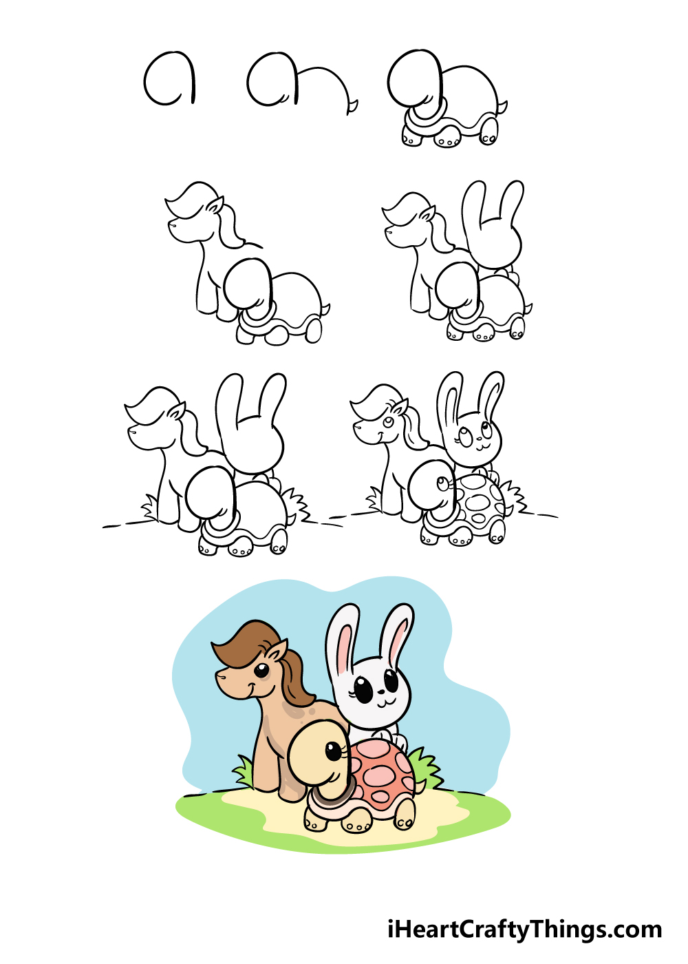how to draw cute animals in 8 steps