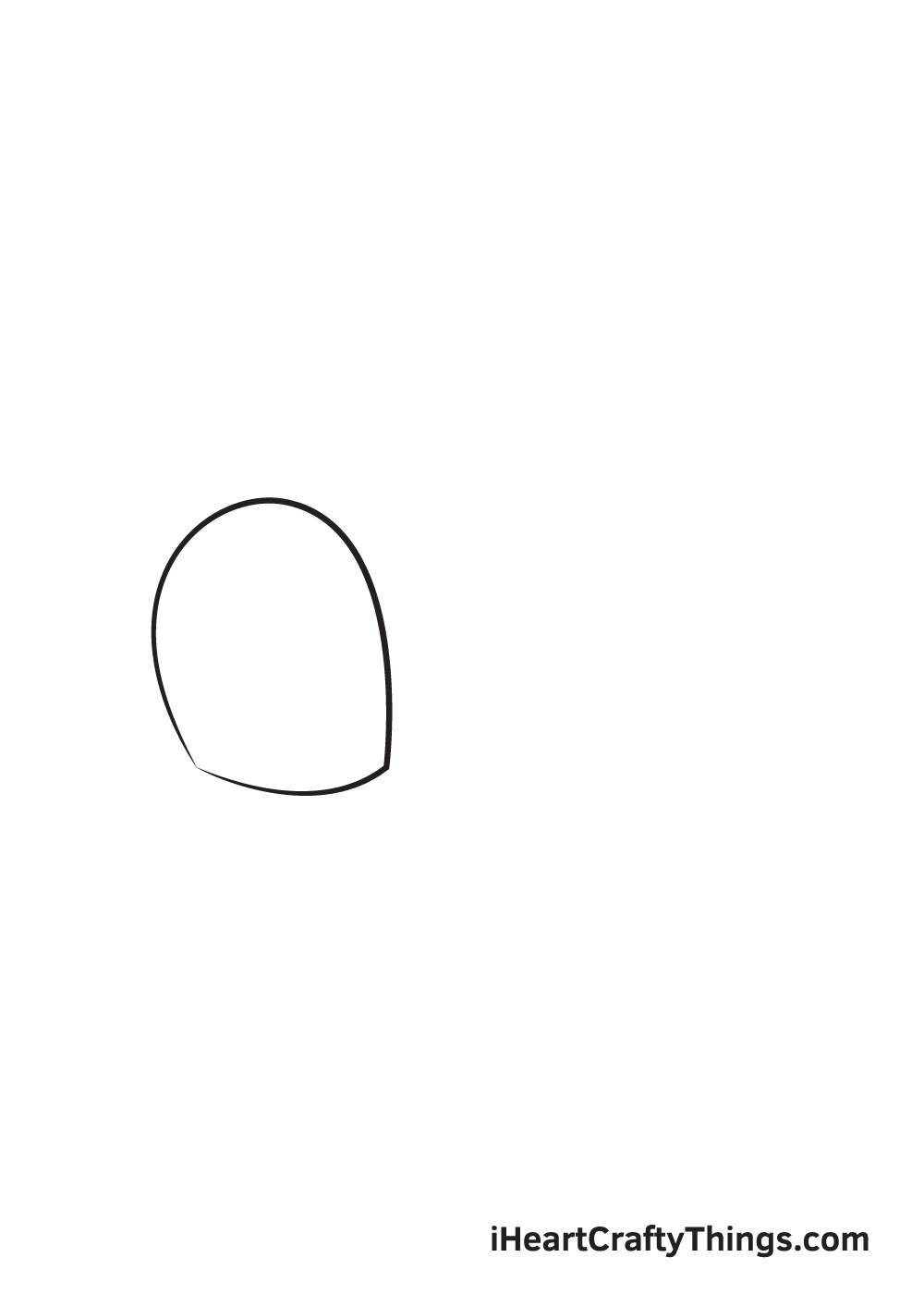 cute eyes drawing step 1