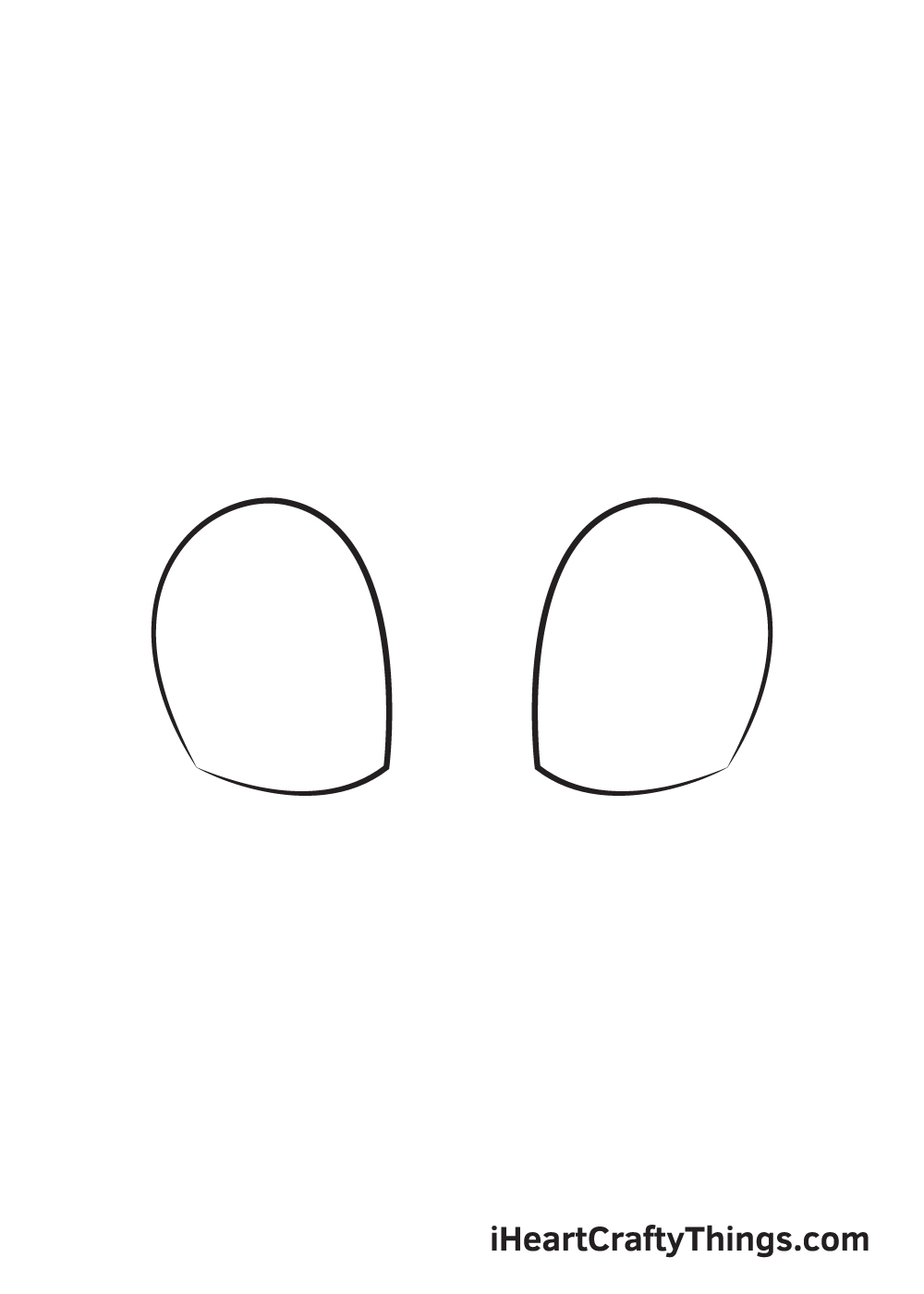 cute eyes drawing step 2