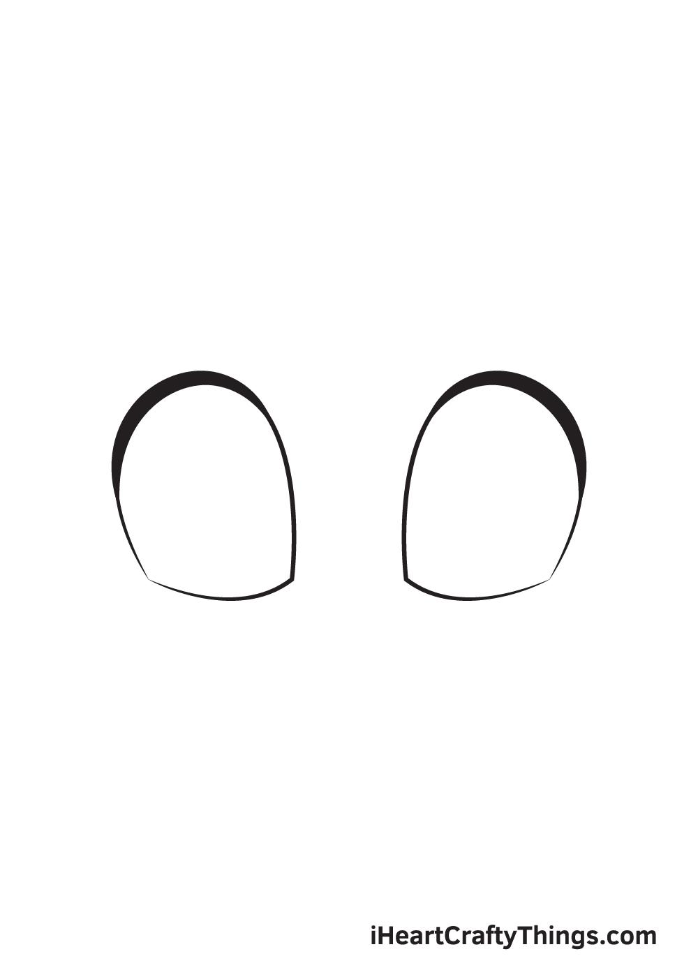 cute eyes drawing step 3
