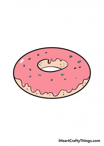 how to draw donut image