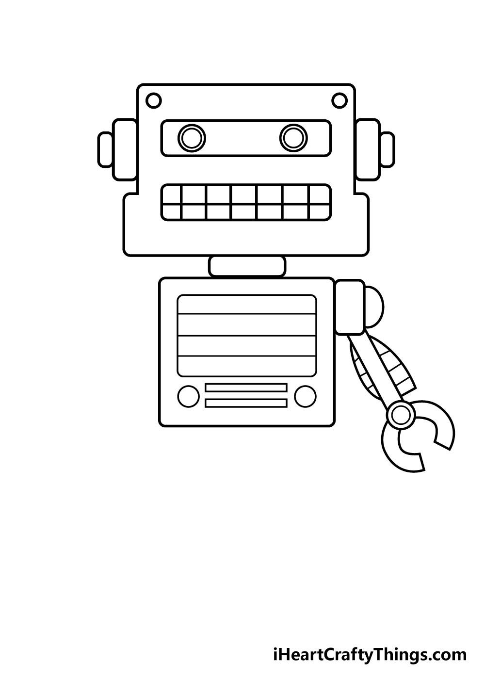 robot drawing step 4