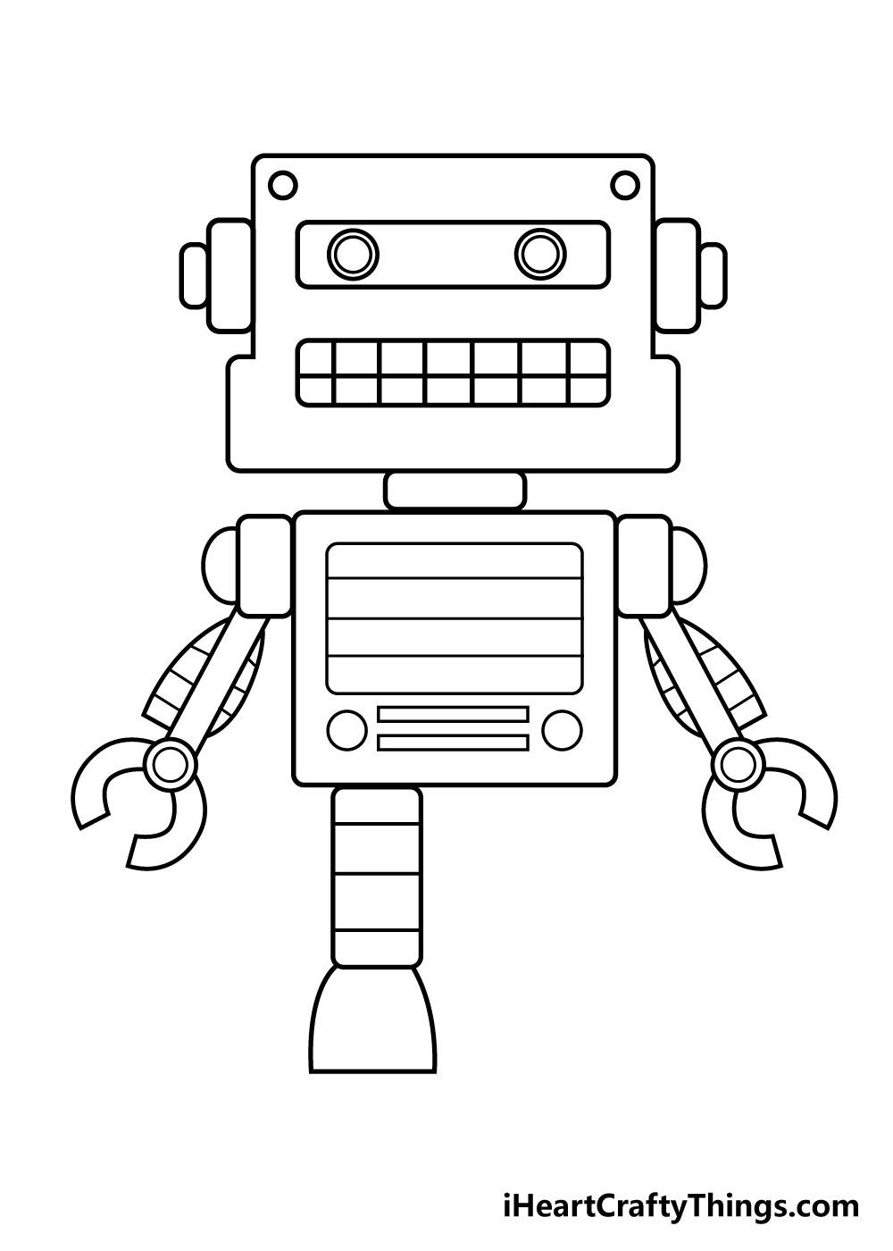 robot drawing step 6